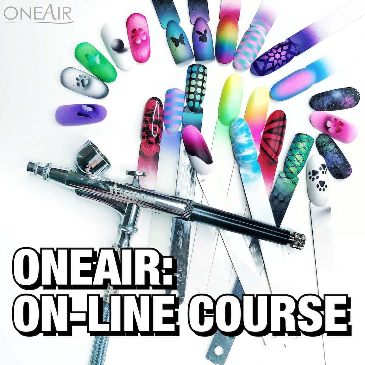 Полный курс аэрографии на ногтях OneAir, первая ступень
